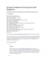 present continuous dialogues grammatical tense english language