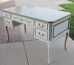 french country writing desk white and gold trim french country by on etsy in writing desk