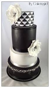 silver wedding cakes black and silver wedding cake cakecentral