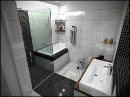Clear Bathtub Interior Creative Black White Tile Small Bathroom Design Using
