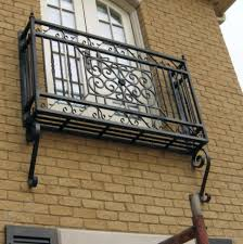 hand forged wrought iron balconies