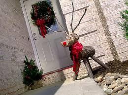 log reindeer rustic reindeer lawn ornament how did i do it
