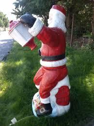 Blow Mold Christmas Yard Decorations 1969 Poloron Mechanical Santa Estate Sale Purchase Christmas Fanclub