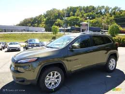 jeep cherokee black 2015 2015 eco green pearl jeep cherokee latitude 4x4 97645832
