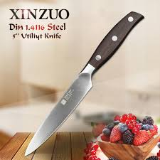 german kitchen knives xinzuo 5 inch utility knife german din1 4116 steel kitchen knife