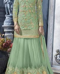 Mint Green Wedding Buy Fine Mint Green Wedding Salwar Kameez Aprl8761 At 1 124 69 Zar