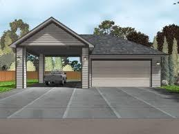 Attached Carports Garage Plans With Carports U2013 The Garage Plan Shop