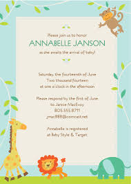 Invitation Card For Baby Design Sample Baby Shower Invitations