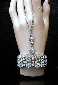 bridal bracelet with ring images The great gatsby bracelet 1920s slave bracelet art deco crystal jpg