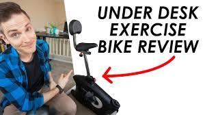 desk exercise bike review u2014 loctek u2 exercise bike youtube