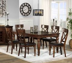 chocolate dining room table kingstown 7 piece dining room set chocolate leon s