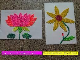 art work using thermocol raji and her kids weblog