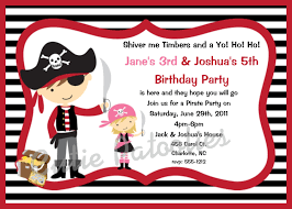 pirate party invitation wording template best template collection