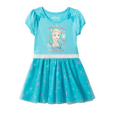 frozen elsa girls 4 6x snowflake mesh skirt dress