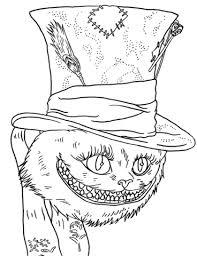tim burton u0027s cheshire cat coloring free printable coloring