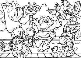 animals zoo party coloring pages free online