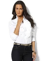 lauren ralph lauren mandelle ruffled blouse top closet