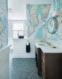 coastal themed bathroom bathroom interior nautical wallpaper kids themed bathroom