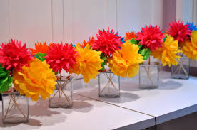 colorful paper wedding reception décor ideas