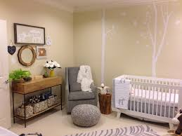 neutral baby safari themed nursery