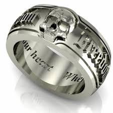 mens skull wedding rings enchanting mens skull wedding bands 86 for wedding ring sets with