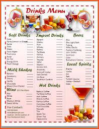 menu card templates 12 menu card template survey template words