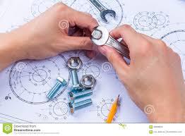 design engineer mechanical design engineer in drawing stock photo image 58088043