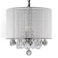 Chandelier With White Shade Buy Crystal Chandeliers From Bed Bath U0026 Beyond