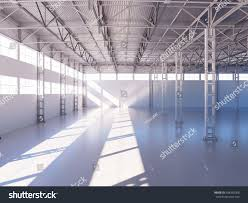 Warehouse Interior Contemporary Empty Warehouse Interior 3d Illustration Stock