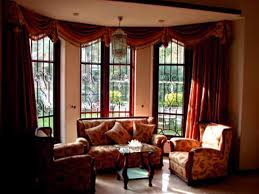 window treatments for bay windows in living room interior design