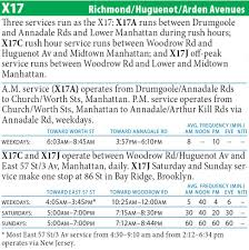 Q31 Bus Map X17 Bus Richmond Hugenot Arden Avs