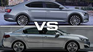 Skoda Superb Vs Peugeot 508 Road Test Youtube