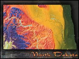 Lake Sakakawea Map North Dakota Map Colorful Topography Of Physical Features