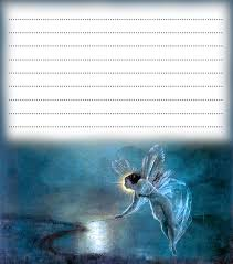 blue winter fairy notepaper rooftop printables