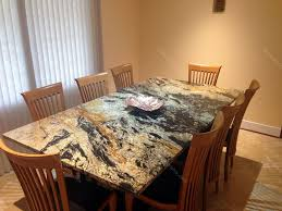 Dining Room  Chic Large Dining Table With Square Black Pattern - Granite kitchen table