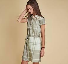latest barbour ewan dress womens skirts and dresses laurel green