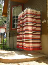 Sunbrella Outdoor Shower Curtains by Diy Outdoor Shower Rod U2013 While Everyone Else Is Sleeping