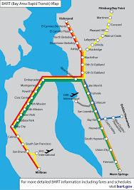 Bay Area Map Bart Map City Sightseeing Tours