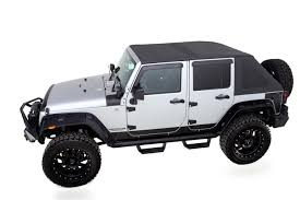 white convertible jeep tops