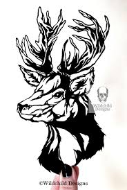 stag head designs stag head paper cutting template gothic for personal or commercial