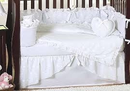 White Crib Set Bedding White Nursery Bedding Sets Thenurseries