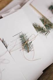 christmas wedding programs minimalist wedding ceremony programs with evergreen branch