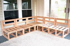Outdoor Wooden Patio Furniture Diy Outdoor Sectional Sofa Plans Wood Patio Furniture S