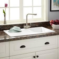 Owensboro DropIn Granite Composite Sink With Drain Board - White composite kitchen sinks