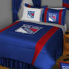 Hockey Bedding Set Nhl New York Rangers Hockey Team 5pc Bedding Set