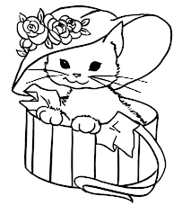coloring page of a kitty coloring pages kitty cat babysplendor com