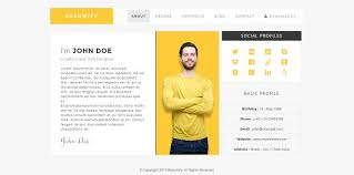 Resume Template Html Resumify One Page Resume Template Html Css Themes Creative