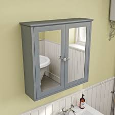 Buy Bathroom Mirror Cabinet by The Bath Co Camberley Grey Wall Hung Mirror Cabinet