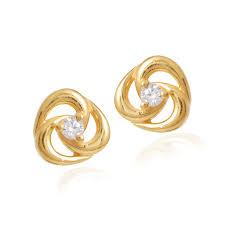 childrens gold hoop earrings earrings for kids gold 0 45ct diamond 18k yellow gold hoop dangle