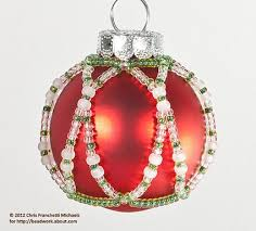 beaded ornament cover pattern
